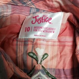NWT Justice Flannel